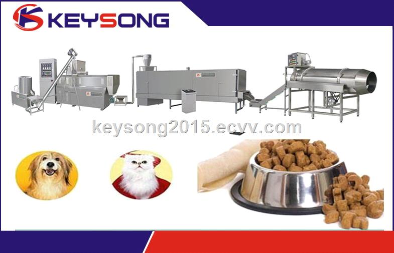 Stainless steel pet feed extruder / pet feed making machinery
