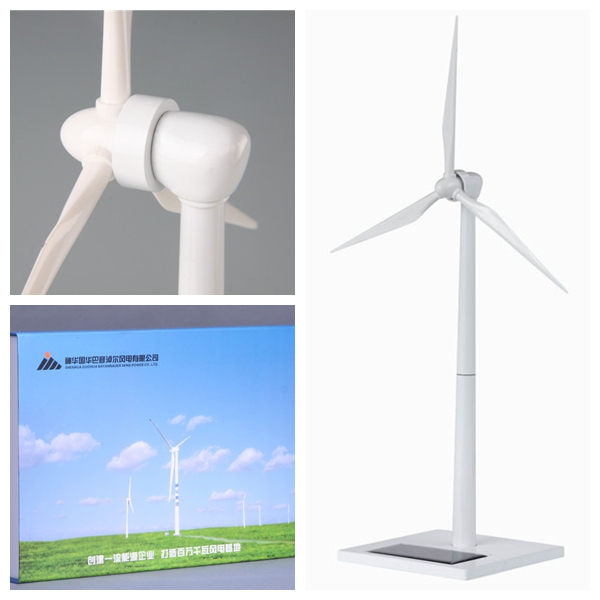 Small White painting Wind Turbine Model for Corporate Gifts