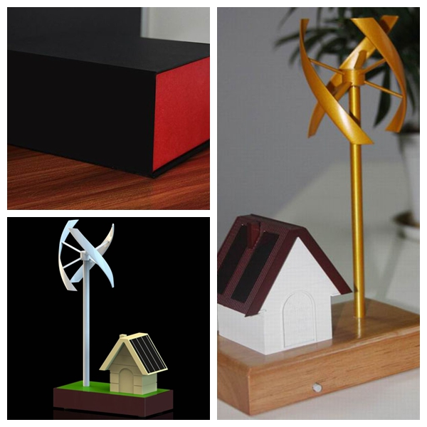 Vertical Axis Wind Turbine Model With Small Solar House From China