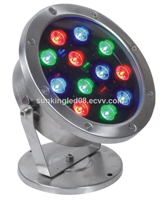 18w Rgb Led Underwater Light 24v Ip68 304 Stainless Steel Fountain Lights