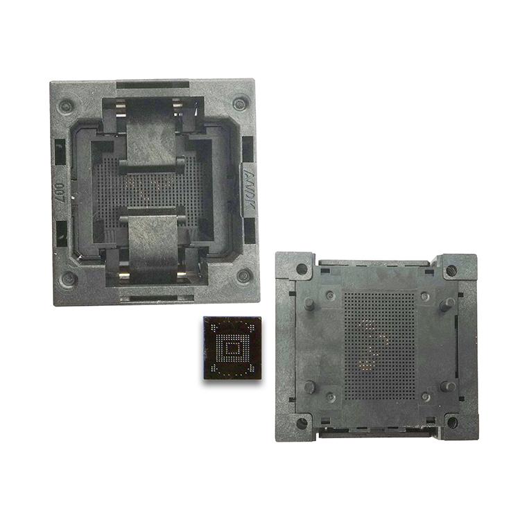 eMMC test socket 11 5x13_0 5mm, for BGA 153/169 testing eMMC data reading  and re-writting