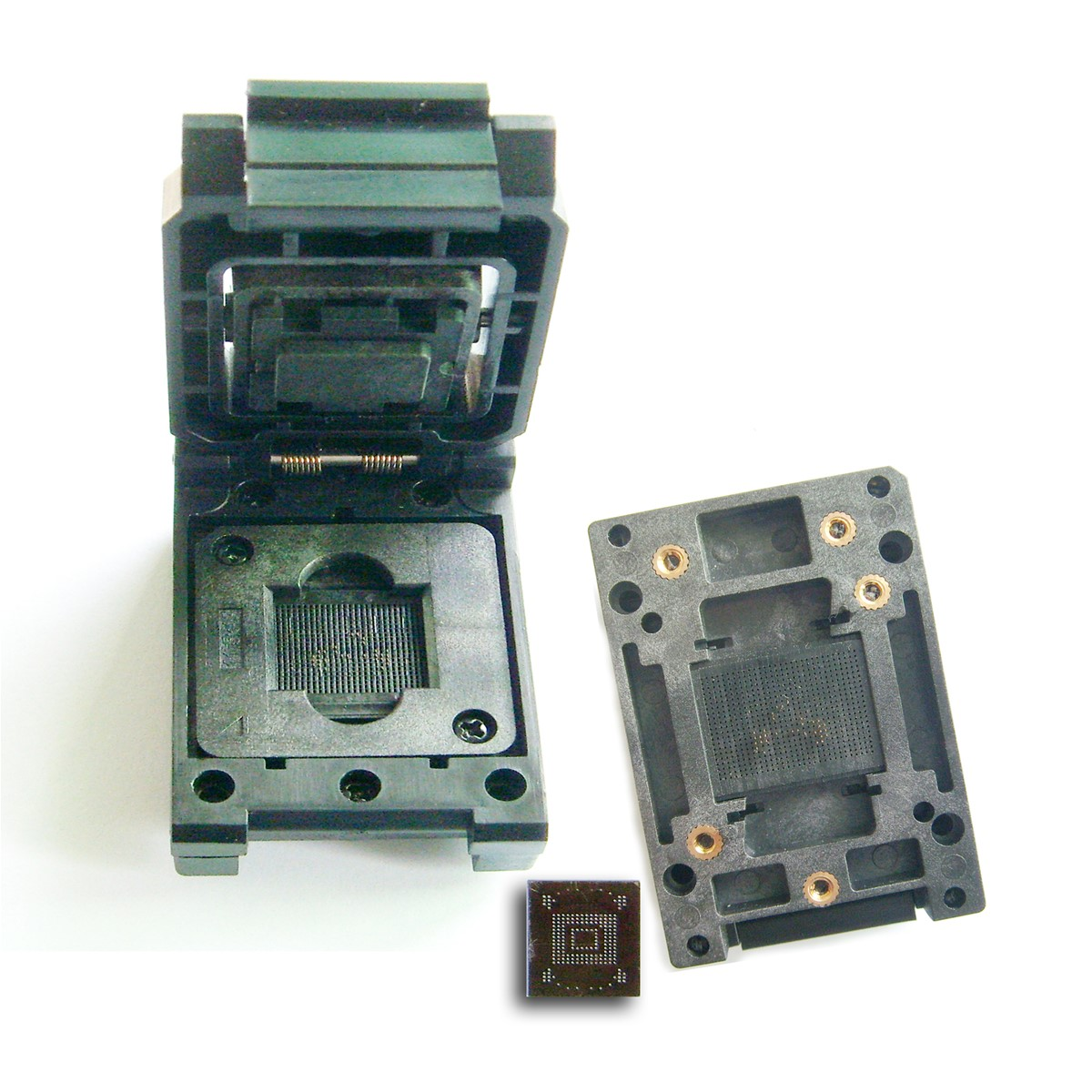 eMMC test socket, size11 5x13 Clamshell structure, for BGA153/169 testing  eMMC data reading