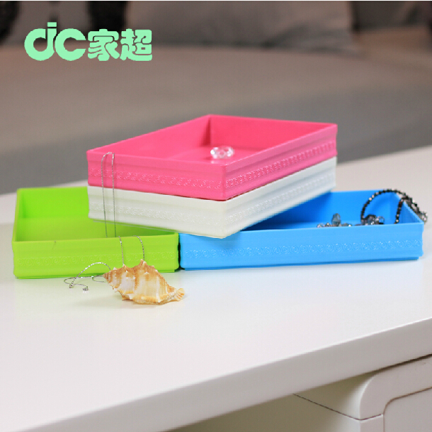 plastic Decorative Storage box multifunction square make-up box jewelry box sundry place box