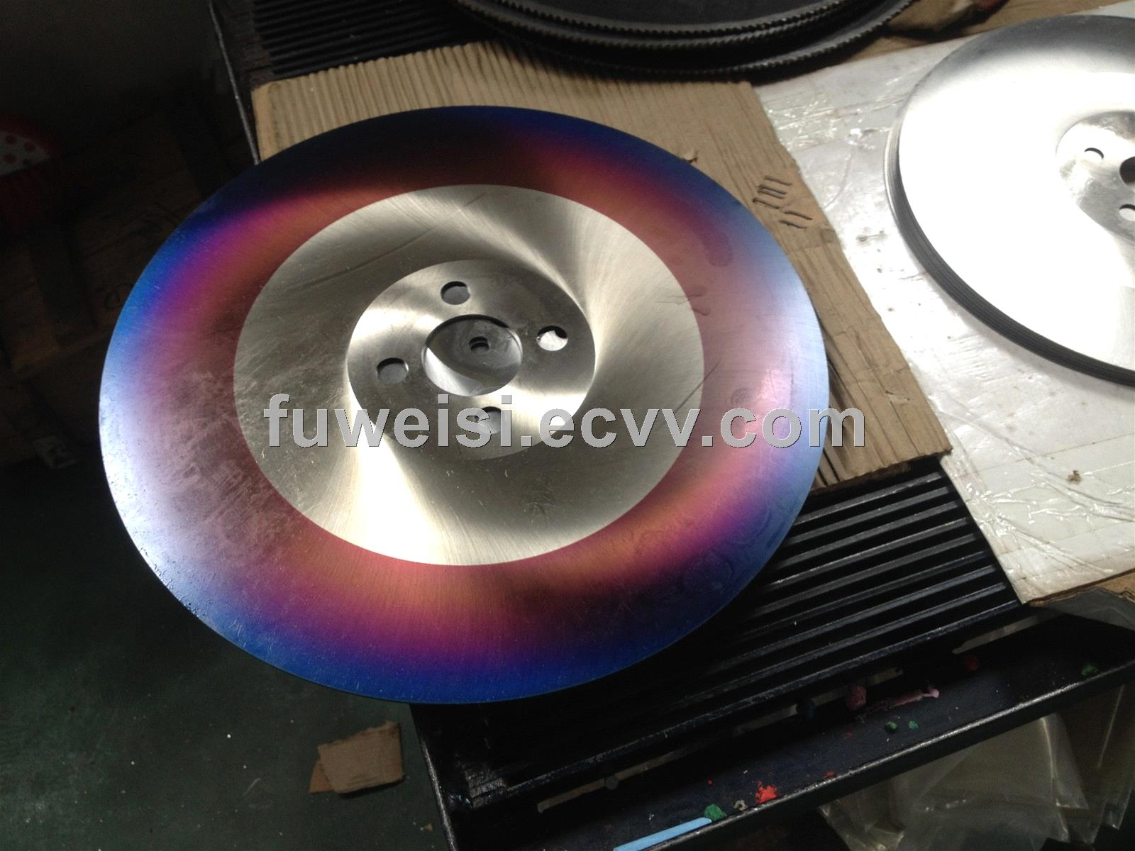 HSS circular saw blade  with Blue plus coating.