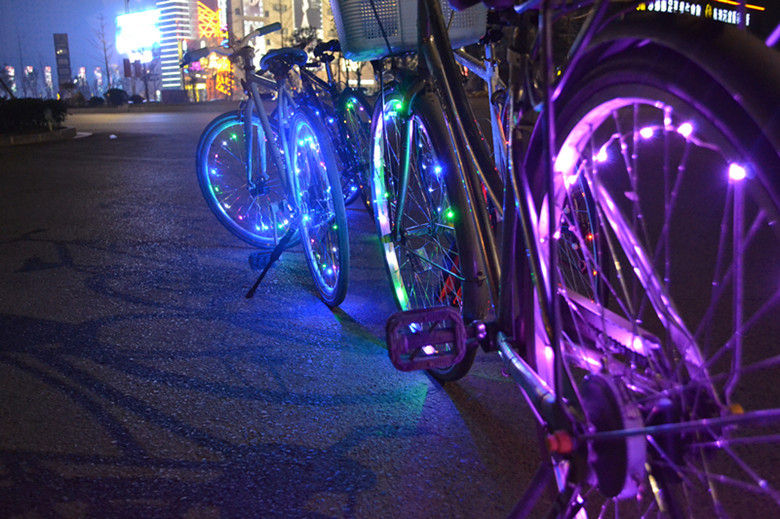 Mini LED Bicycle Wheel String Lights with Rechargeable Option 2015 NEW Arrival