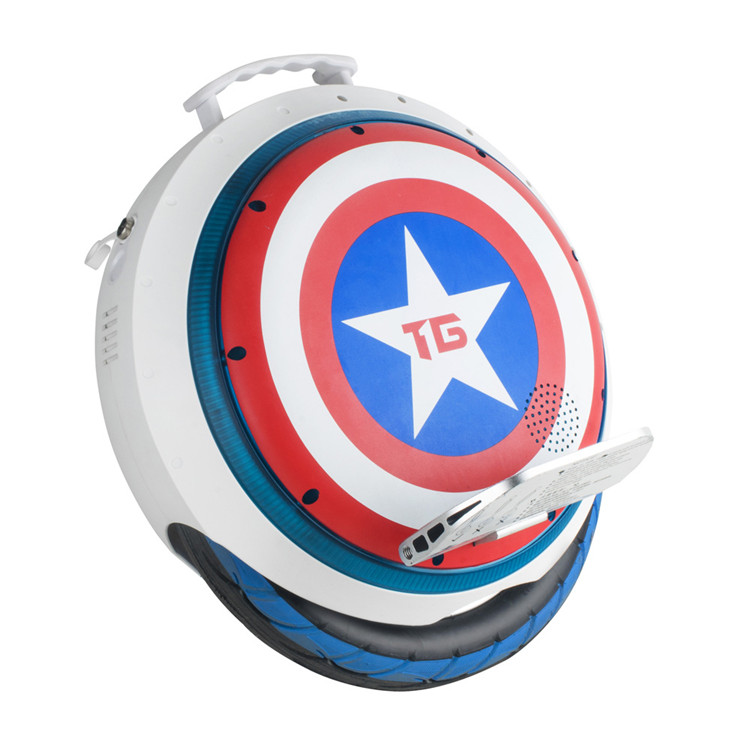 Bluetooth Monowheel Balance Scooter Captain America One Wheel Electric Scooter