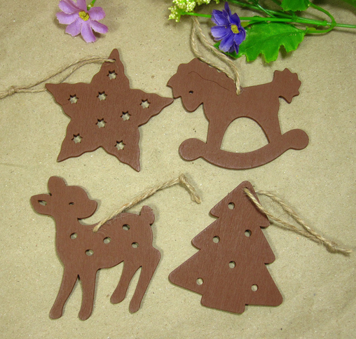 wood and acrylic Christmas decoration for wall hanging