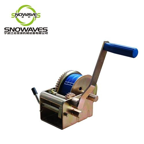 2000lbs Portable small mini hand winch with removable handle