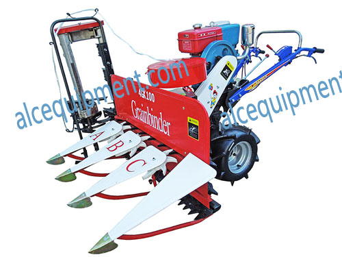 Hot sale model ALC-4G 80 Rice wheat reaper and binder, wheat reaper and harvester