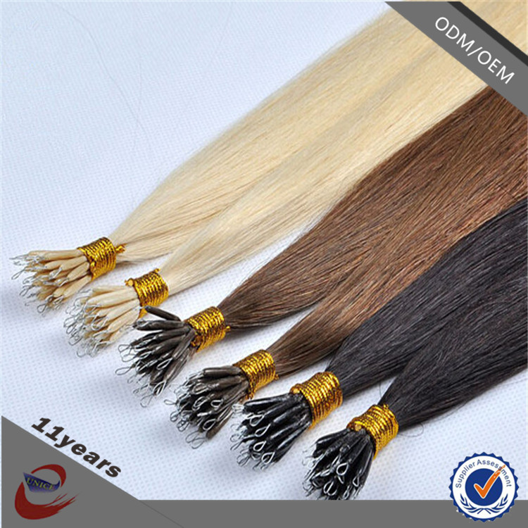 Wholesale Russian Nano Ring Hair Extension Hot Blonde Russian Hair