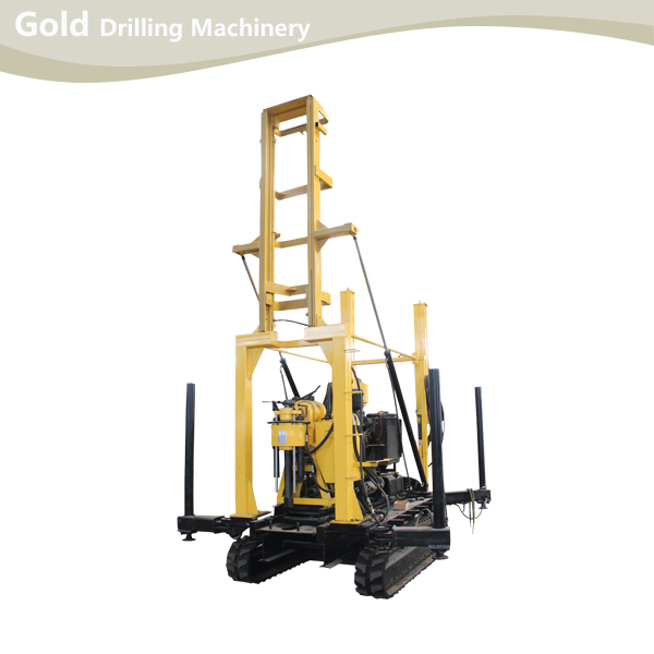 Crawler Mounted Hydraulic Drill Tower Core Drilling Rig And Water Drilling Rig