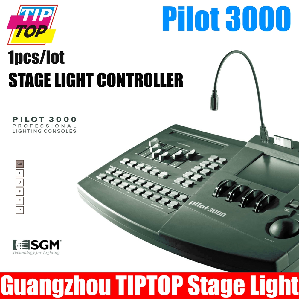 Pilot 3000 DMX Controller DMX Lighting Console 90V-240V dMX Computer  Controlle packed by flight case