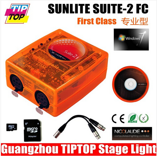 Sunlite Suite 2 First Class Mac 1536CH,USB DMX Controller,Full Mode 3D  Visualizer,Easy Show Stage FC
