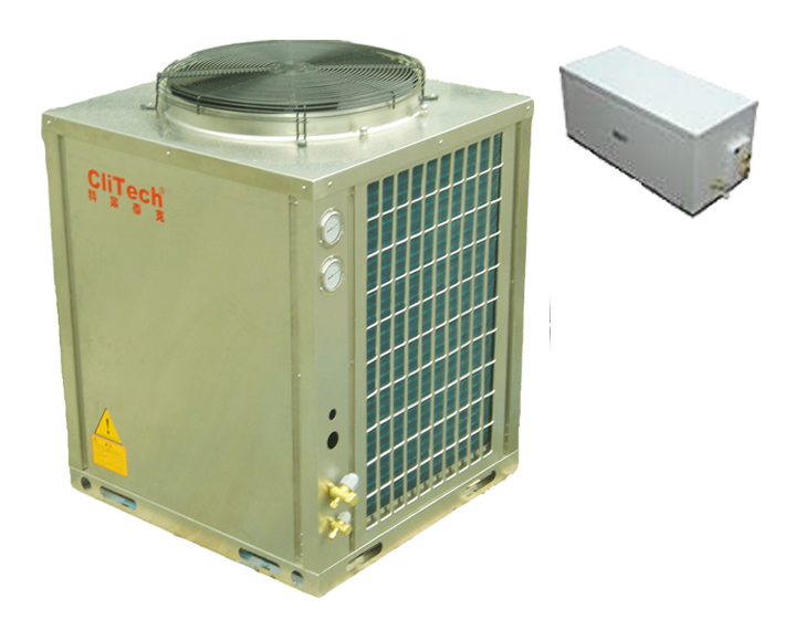 EVI low temp heat pump for cooling and heating