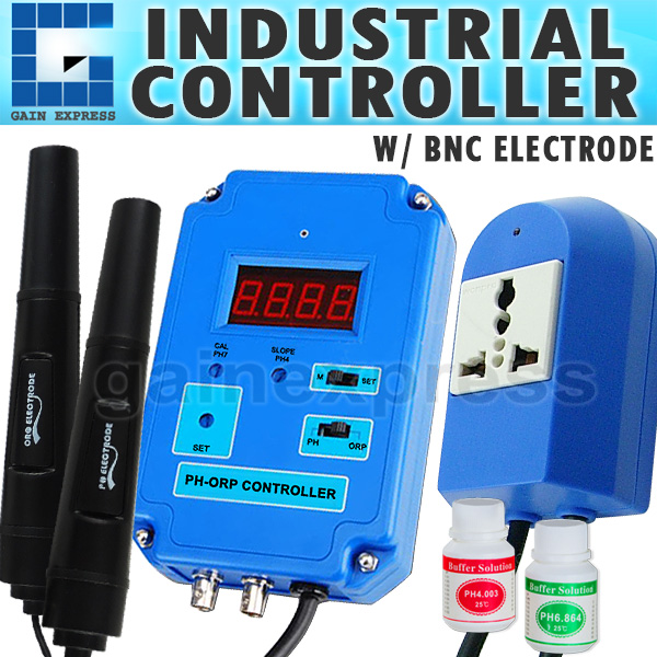 Digital PH ORP Controller & Electrode - CO2, O3, 220V