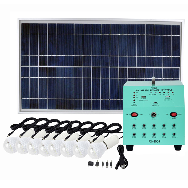 70W Solar Panel 38AH Deep Cycle AGM Battery DC Solar Energy Systems for Lighting FS-S906