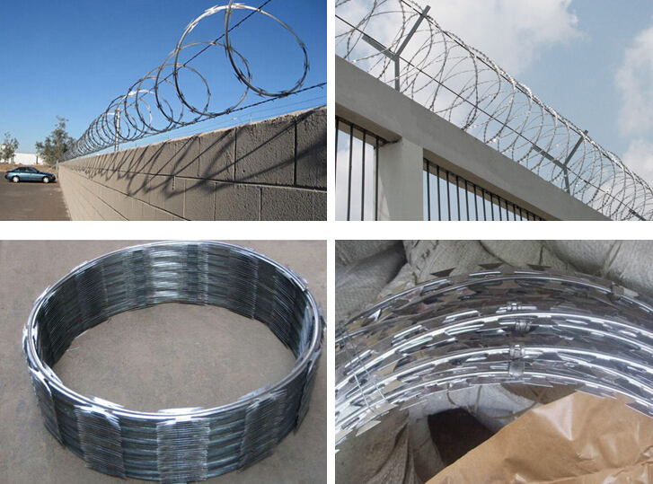 Steel razor barbed wire
