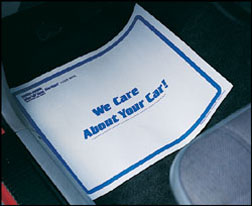 Disposable Print Logo Paper Universal Auto Carpet Vehicle