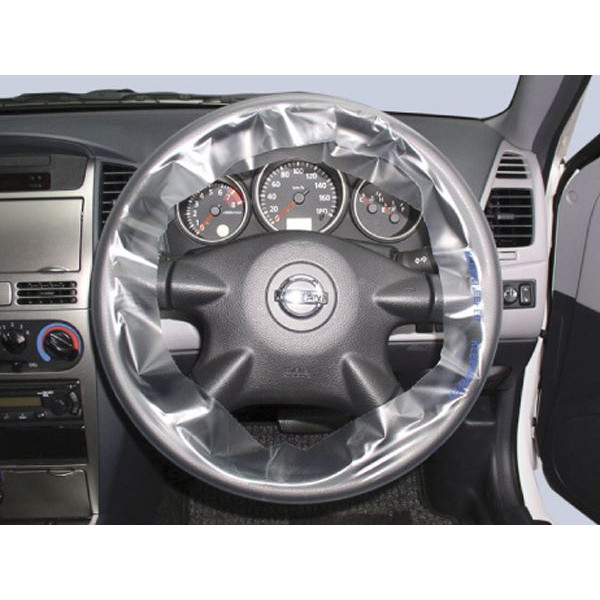 High quality PE plastic steering wheel cover transparent with print for wholesale