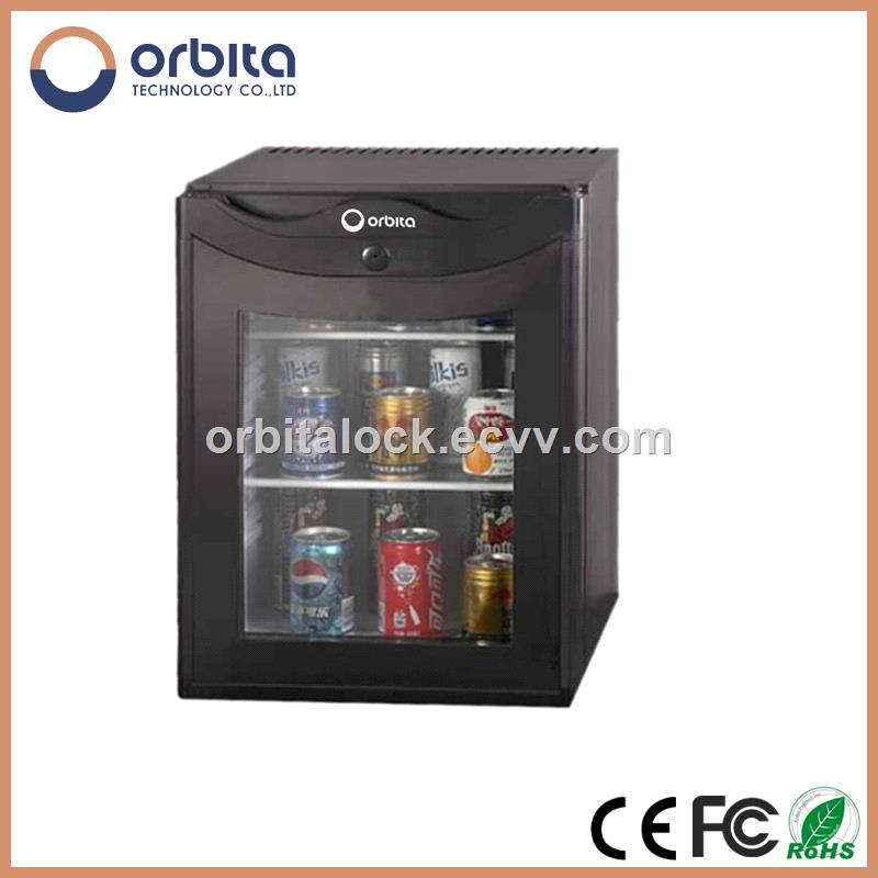 Orbita OBT-30GA Glass Door Hotel Minibar, Absorption Minibar