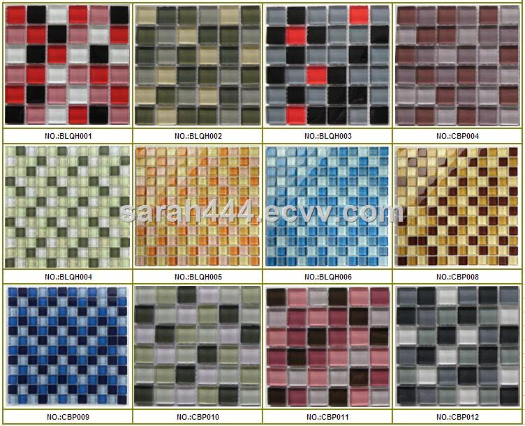 Mixed crystal glass mosaic for swimming pool/Swimming pool tiles