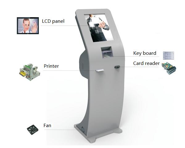 Self Help Service Kiosk Rfid Nfc Card Payment Bar Code Reader Terminal
