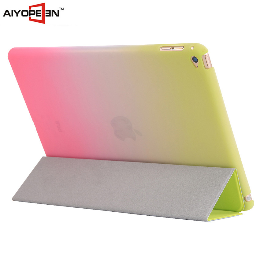 hot sales rainbow gradient color case Smart Cover With Auto Sleep & Wake up for ipad air/ iPad Air2
