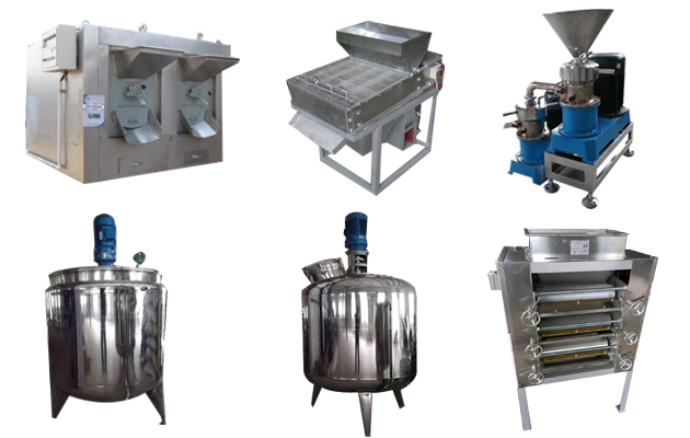 (200 KG/Hour)Peanut Butter Making Machine Product Line