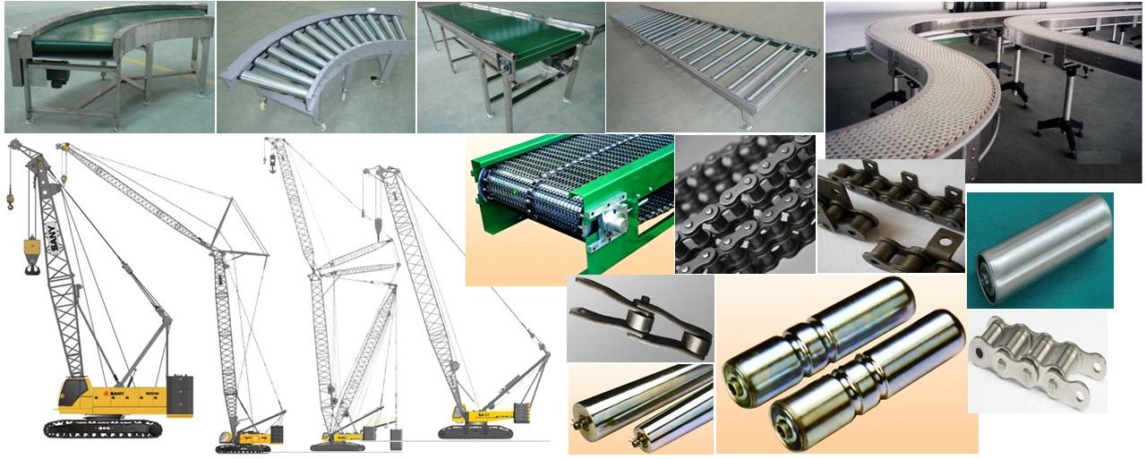 Conveyor Roller/conveyor chain/Crane Crawler/Flat Belt Conveyor from