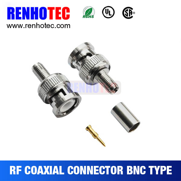 Online Shopping BNC Male Crimp Connectors RF Magnetic Electronic Connectors for Cable RG316