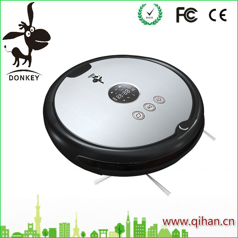 small size Lithium battery powered robotic vacum cleaner by Donkey