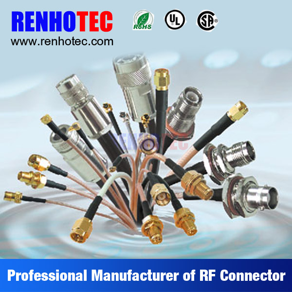 OEM ODM BNC F SMA TNC N 7/16 Quick Crimp Cable RF Connectors for Multi Wires