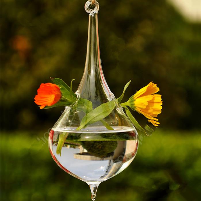 Creative Cone Shaped Glass Terrarium Hanging Glass Vase Wedding