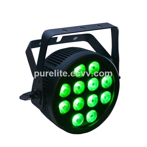 Slim Led Par Can Light With 12x12 Rgbwa Uv Led And Powercon
