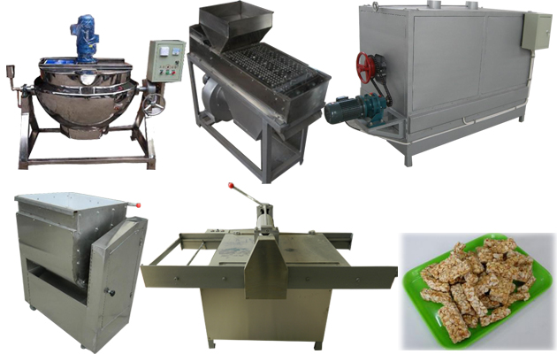 Semi-automatic Peanut Brittle Forming and Cutting Machine For Sell