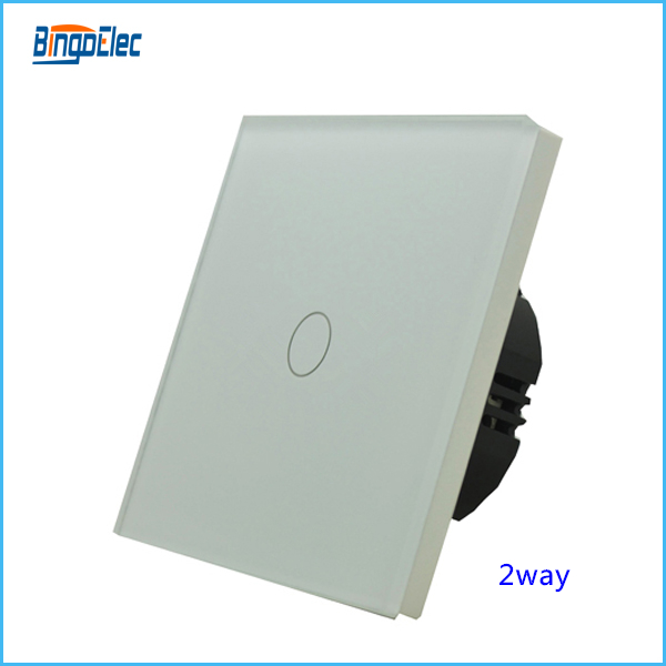 1gang 2way touch sensitive switch,EU/UK standard,AC110-240V
