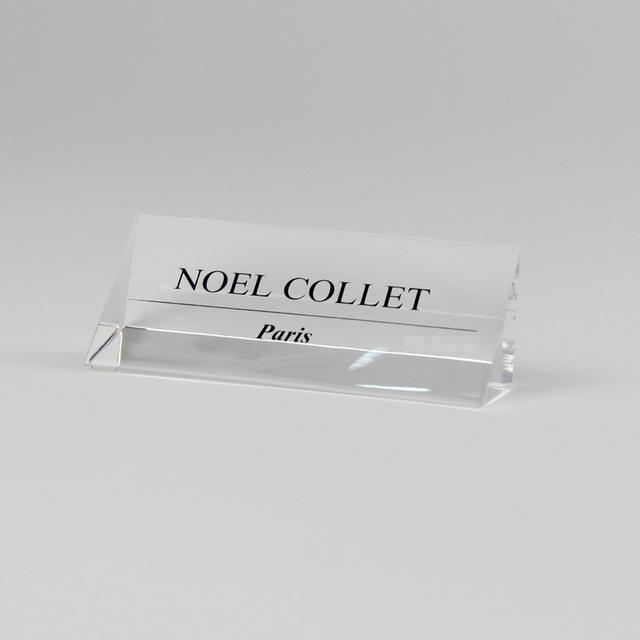 acrylic logo block triangle acrylic brand block nameplate clear
