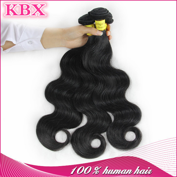 Wholesale Hot Selling Indian Hair Weave Natural Color Full Cuticle