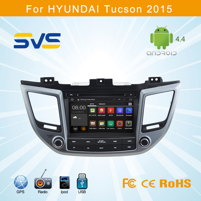 Android 4.4 car dvd player GPS navigation for Hyundai IX35 2015 with 8