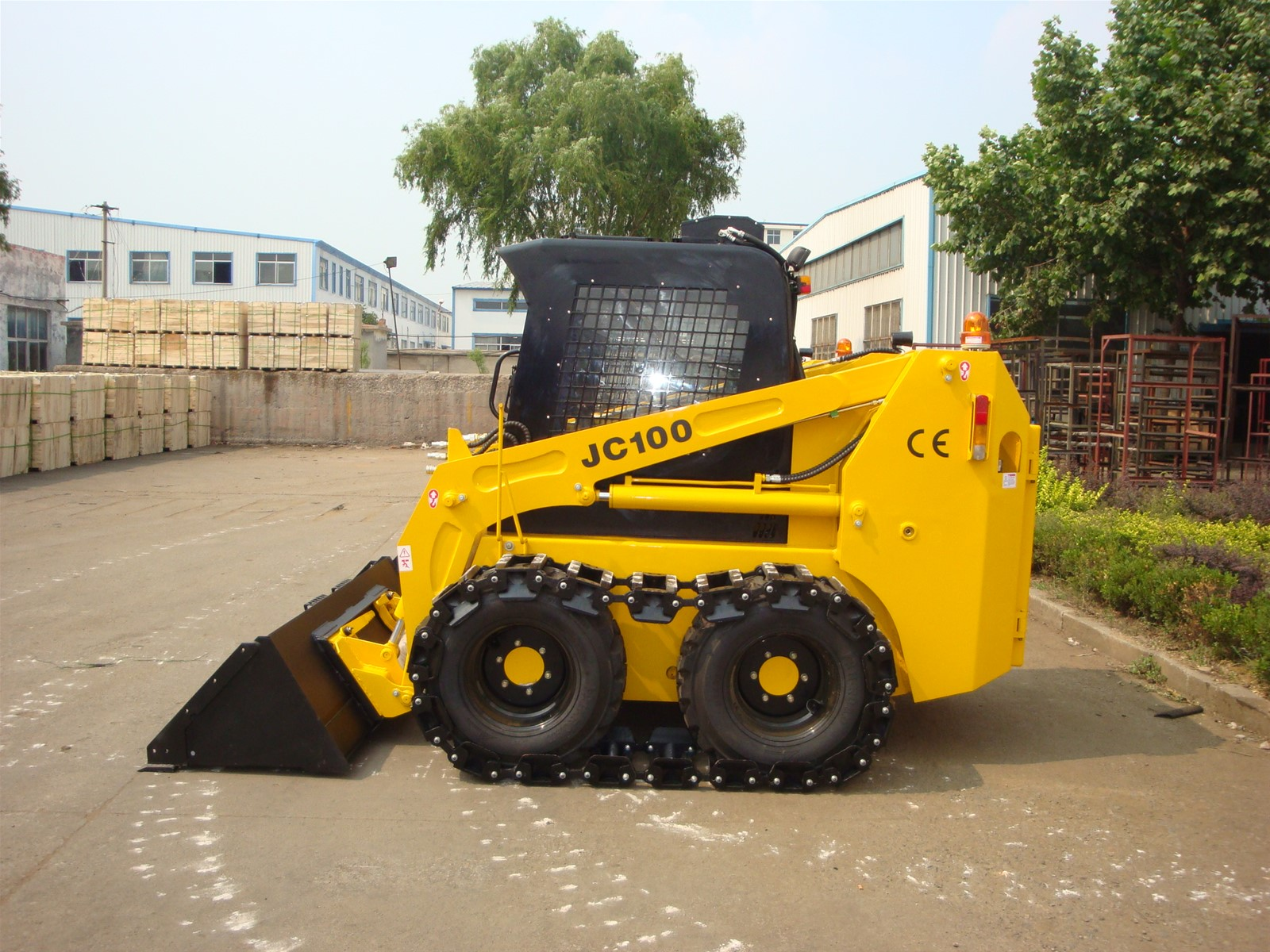 2016 High Quality JC100 Mini Skid Steer Loader with Loading Capacity 1200kg for Sale