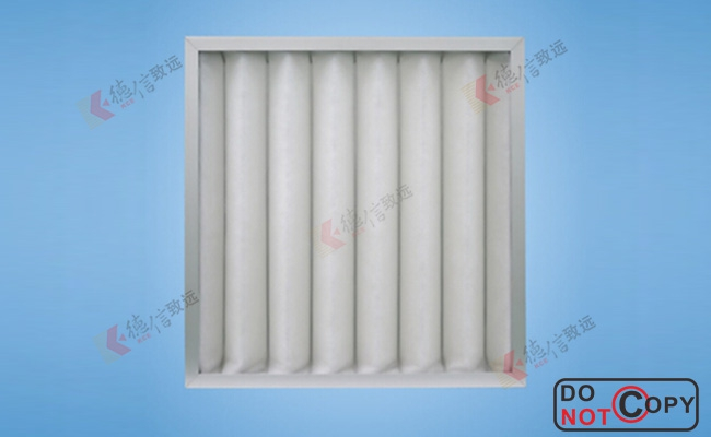 washable primary air filter-plate type