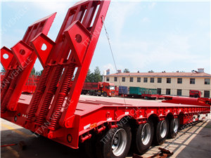 4 axle 80 ton 100 ton low bed trailer with low price