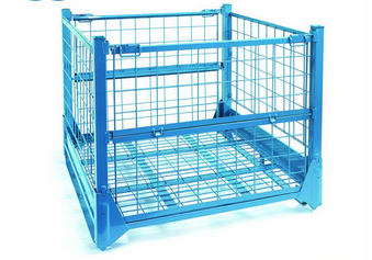Stackable Storage Cage Metal Wire Mesh Container Galvanized Wire Mesh Storage Cage
