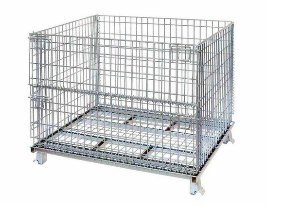 high quality steel galvanized foldable wire storage box for sale