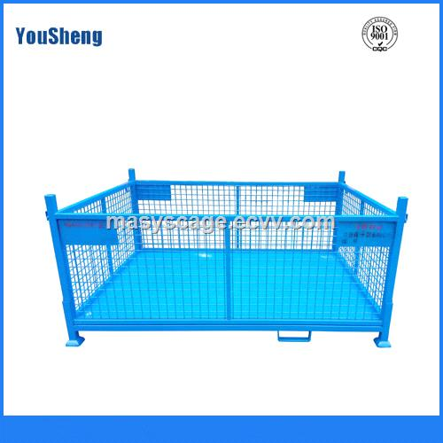 Foldable Large Storage Metal Mesh Pallet Box Container for Storage