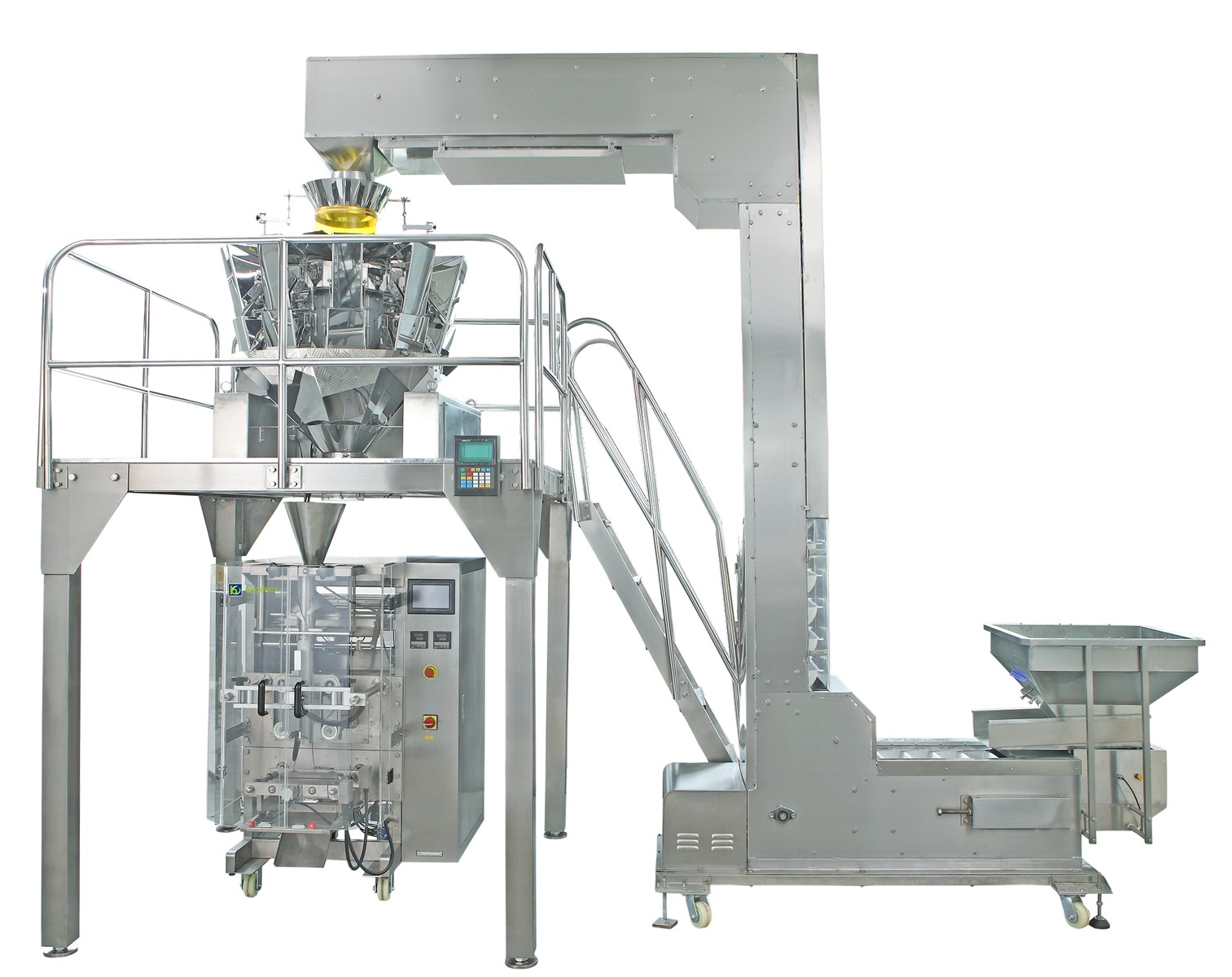 Large automatic potato chips packing machine with 10 head electronic weighing scale CT-5240-PM