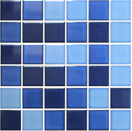 Crystal Glazed Ceramic Mosaic Tile for Swimming Pool 48x48mm ...