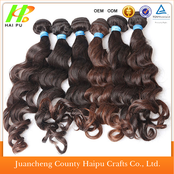 Synthetic Twotone Ombre Hair Waving Two Tone Ombre Hair Extensions