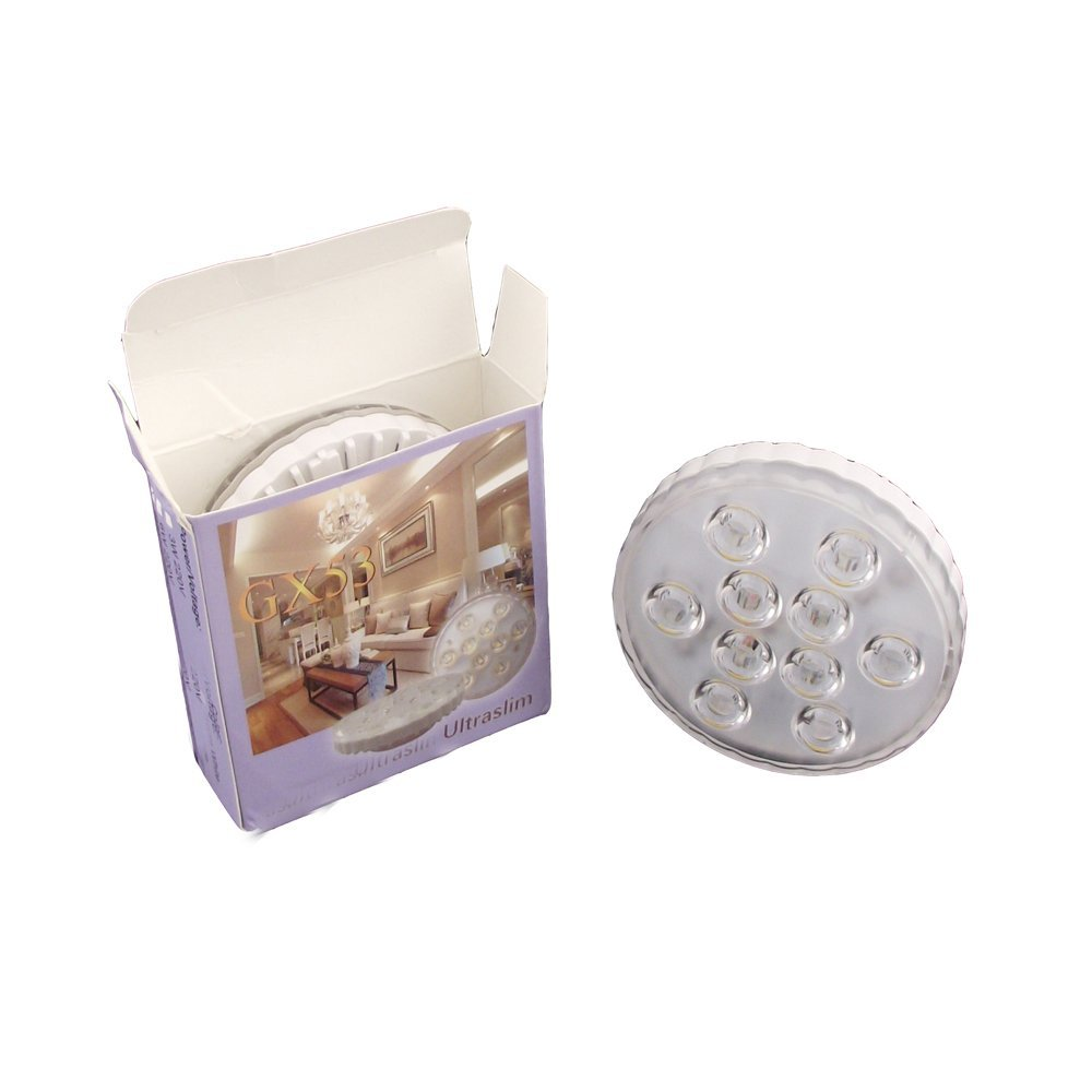 GX53 LED Cabinet Spotlight 5W with beam angle 30deg CE TUV