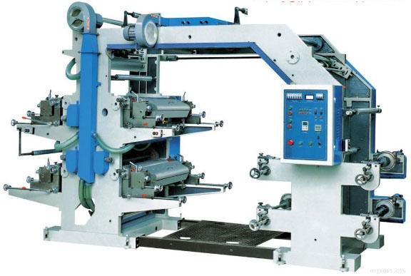 Small Stack Type Polyethylene Plastic Bag 4 Color Flexo Printing Press Machine Price